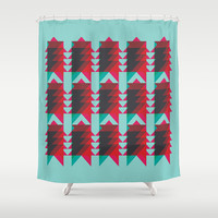 Ziggy Shower Curtain by NOT MY TYPE
