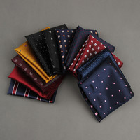 2016 Fashion Handkerchief Printed  Dot Plaid Pocket Square For Men suits wedding Party Hankies Mouchoir Homme