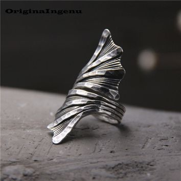 925 Sterling Silver Ring Jewelry Vintage Punk Charm Bohemia Minimalism Mom Birthday Gift Haut Femme Anillos Rings for Women