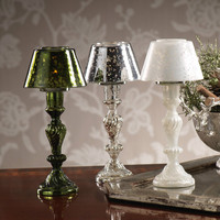 Mercury Glass Lamp Design Tealight Holder
