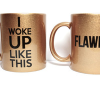 Beyonce mug sets, Flawless, I woke up Like this set  bow down trill King B