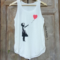 Goodbye Heart Tank Top Hipster tank top Tank top women Fitness top Summer Cloth Gift Summer fashion tshirt Vintage tank tops for woman