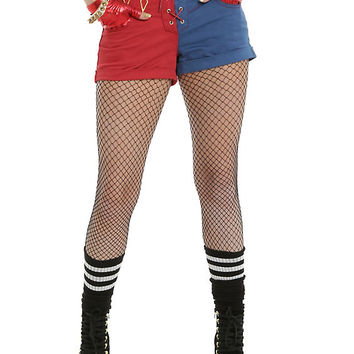 DC Comics Suicide Squad Harley Quinn Lace-Up Split Shorts