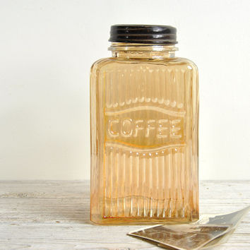 Vintage Carnival Glass Coffee Jar