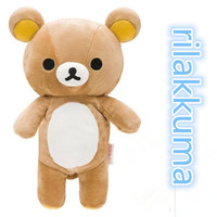 35cm Kawaii big brown japanese style rilakkuma plush toy teddy bear stuffed animal doll birthday gift free shipping