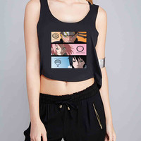 Naruto Sakura Sasuke Team 7 for Crop Tank Girls S, M, L, XL, XXL *07*