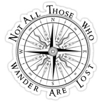 Not All Those Who Wander Are Lost, Compass, Tolkien Quote by NerdGirlTees