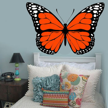 Butterfly Wall Decals | Colorful Monarch Butterfly Wall Decal Girl's Bedroom Decor