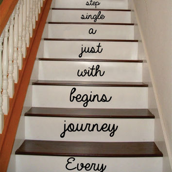 Every Journey Stairs Version 2 Decor Decal Sticker Wall Vinyl Art