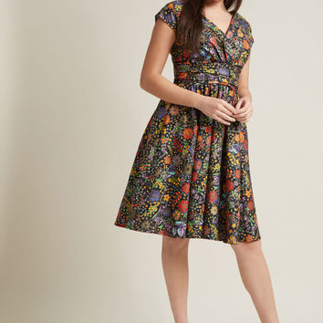 We're All Marvelous Here A-Line Dress in Fiesta