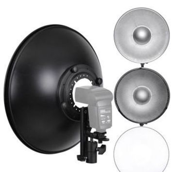 PRY016 16In BEAUTY DISH HONEYCOMB GRID SOFT BOX DIFFUSER SET
