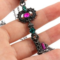 Beauty Crystal Key Heart Anchor Pendant Necklace Steampunk Vintage Steam Punk Costume Jewelry Gift For Women