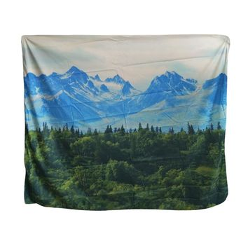 Papa&Mima Snow Mountain Printed Indian tapestry Wall hanging decorative Tapestries