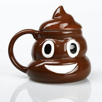 The Poop Emoji Coffee Mug | Brown Ceramic