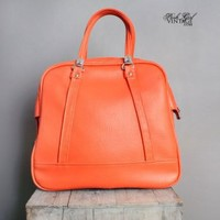 1960's Orange MOD American Tourister Lugagge Bag VINTAGE LUGAGGE TRAVEL BAGS : 1960'S :