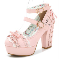 Sweet Lolita High Heel Shoes