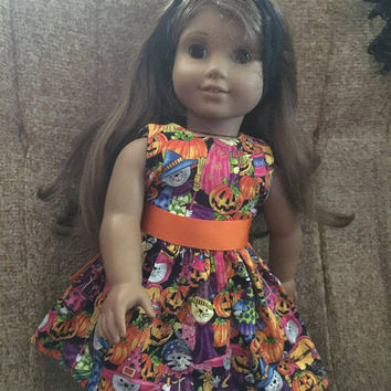 Halloween dress for 18 inch doll AG