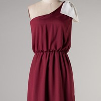 """Side Lines"" Game day Bow Dress- Maroon and White"