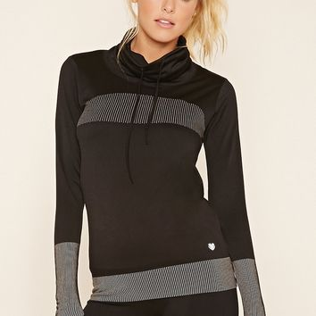 Athletic Cowl Neck Pullover