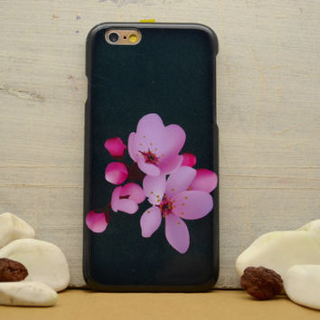 iPhone 6 case Blossoming cherry black iphone 6 plus case floral galaxy S6 case  S5 S4 mini case iphone 4 5 5C, Note 4 note 3 KG G4 Xperia