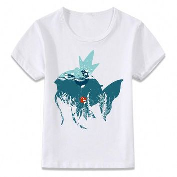 Kids Clothes T Shirt Karp Movie Magikarp and Gyarados  Gaming Children T-shirt for Boys and Girls Toddler Shirts TeeKawaii Pokemon go  AT_89_9
