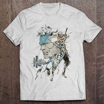 Metal Gear Solid 2: Sons of Liberty Snake Raiden Men's Video Game T-shirt