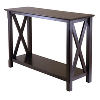 Shop Winsome Wood Xola Cappuccino Rectangular Console and Sofa Table at Lowe's