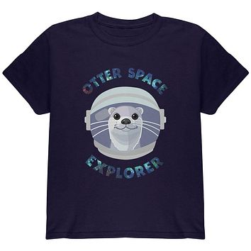 Otter Outer Space Explorer Cute Youth T Shirt