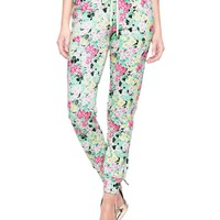Tourmaline Riviera Riviera Floral Slim Comfy Pant by Juicy Couture,
