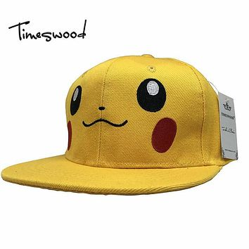 Brand Game Pokemon Go Hats Hip Hop Yellow Duck Baseball Cap Hat Team Valor Team Mystic Team Instinct Snapback Pokemon Men Women