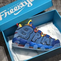 Nike Air More Uptempo AIR Freestyle Blue Sneaker
