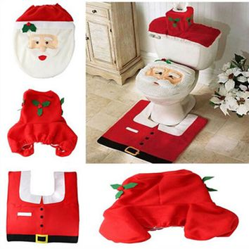 Santa Toilet seat cover and accessories