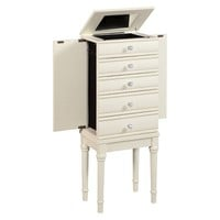 Linon Sylvie Jewelry Armoire - White