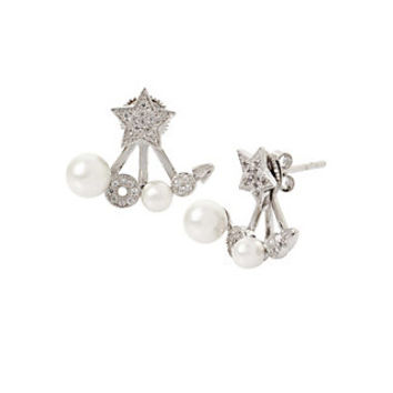 BLUE STARLET STAR EARRINGS: Betsey Johnson