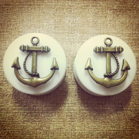 Gold Anchor Ear Plugs