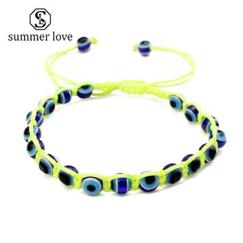 Lucky Turkish Evil Blue Eyes Rope Bracelet For Women Handmade Charm Jewelry Bangles & Bracelets Pulseras Mujer Mano De Fatima