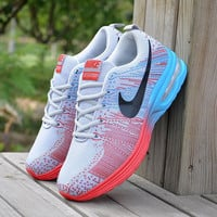 Gray Red Fashionable Stylish Casual Unisex Sports Running Outdoor sneakers shoes for Travelling