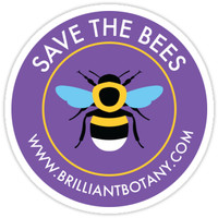 'Save the Bees Sticker - Bumblebee' Sticker by brilliantbotany