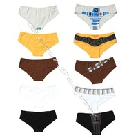 Licensed cool Star Wars Movie Panties Panty Hot Pants Underwear Lingerie 5 Pack JRS. S-M NEW