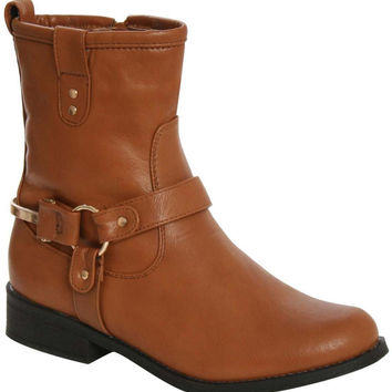 Corina Stirrup Detail Chelsea Boots in Tan Brown