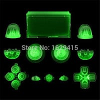 IVY QUEEN Custom Glow in the Dark Full Buttons Set R2 L2 R1 L1 Trigger Dpad Thumbsticks Caps For PS4 Playstation 4 Controller