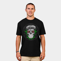 High N Mighty Sugar Skull T Shirt By Kushcoast Design By Humans