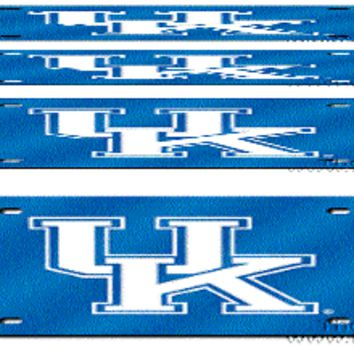 Kentucky Wildcats BLUE Deluxe Laser Cut Mirrored License Plate Tag University of