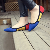 Summer Pointed Toe Flat Pregnant Shoes [4920625796]