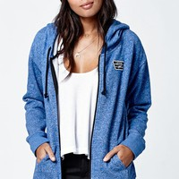 Vans Interness Zip-Up Hoodie - Womens Hoodie - Blue
