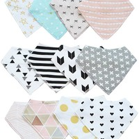 40 Pattern Cute cotton baby bibs Towel Toddler Newborn Triangle Scarf Feeding Smock Infant double bibs Burp Cloths