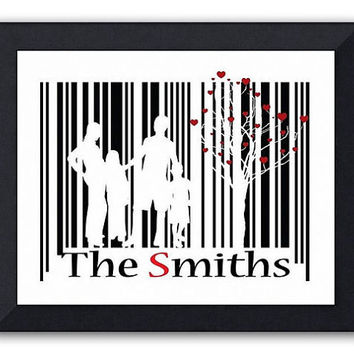 Personalized Family Barcode Art Secret Message by TheWallaroo