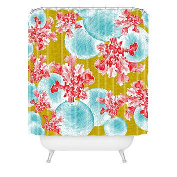 Caroline Okun Betacyan Shower Curtain
