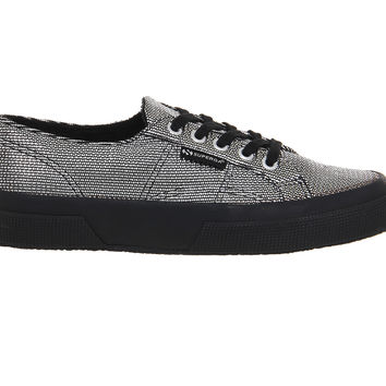Superga 2750 Black Silver - Hers trainers