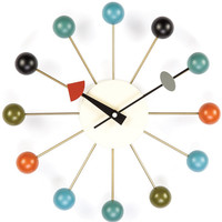 Mid-Century Colored Ball Wall Clock